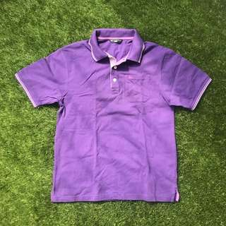 Marks & Spencer Blue Harbour Purple Polo Shirt
