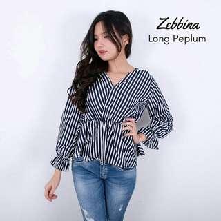 Zebbina long peplum