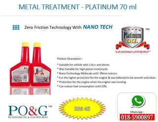 METAL TREATMENT PLATINUM OIL LUBRICANT