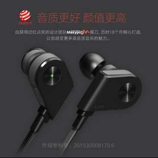 Wireless Bluetooth Earphones - KUWO (Black / Grey)