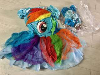 New Deluxe My Little Pony Costume, XS -3/4yrs