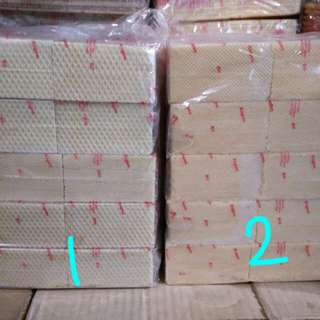 1. Kogen wafer coklat 2. Kogen Wafer durian 800 gram