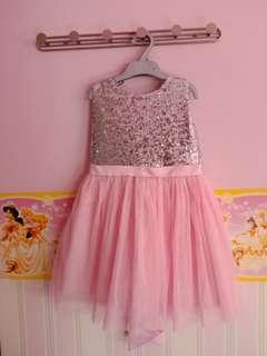 Dress silver pink