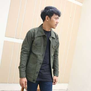 Jaket Trucker Fashion Modern Indonesia