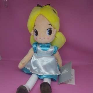 Boneka Alice beli di Jepang Disney Store lengkap dengan tag