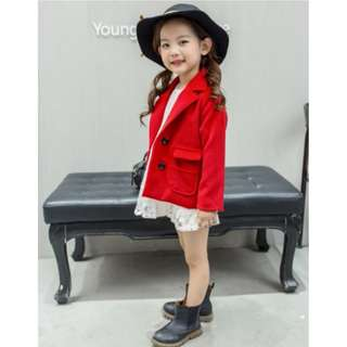 54516 Korean children Fashion Double-breasted Woolen Coat