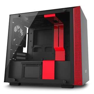 BNIB - Nzxt H200i Black/Red TG ITX casing