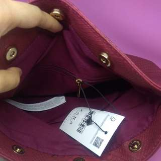 New and Sale Clutch Zara Original - Maroon