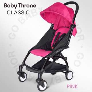 BABY THRONE CLASSIC BLACK FRAME - PINK