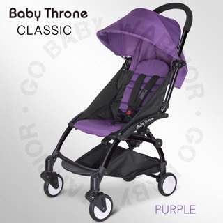 BABY THRONE CLASSIC BLACK FRAME - PURPLE
