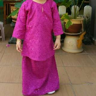 Kids Kurung Sequins