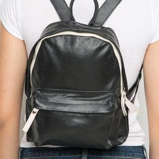 LF : brandy melville black leather mini backpack