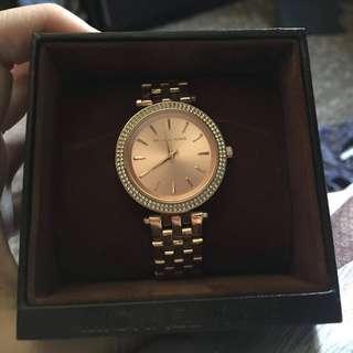 MK darci rosegold dial pave bezel ladies watch 🤑