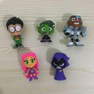 Funko Teen Titans Go Mystery Minis Set of 5