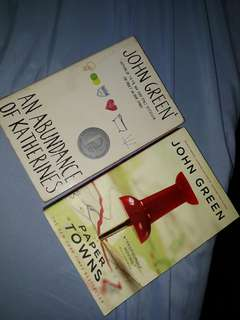 John Green's An Abundance of Katherines and Papertowns