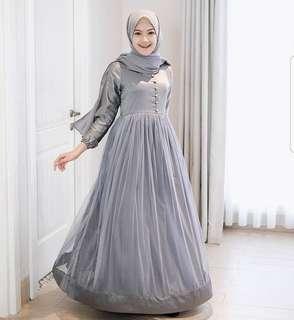 VGC - 0318 - Dress Busana Muslim Wanita Queen