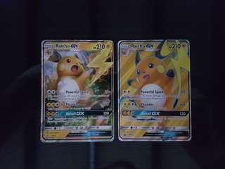 Pokemon Cards SHINING LEGENDS Raichu GX Full Art