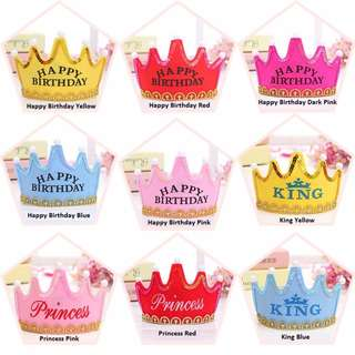 (Ready Stock) LED Light Birthday Party Crown Birthday Party Hats Party Cap Birthday led crown