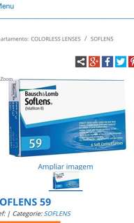 Bausch & Lomb soflens 59