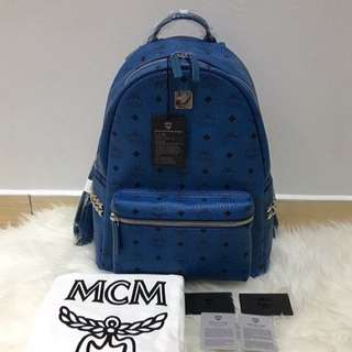 Authentic MCM Stark Backpack In Side Studded