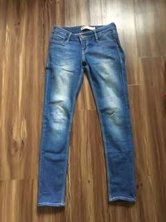 Levi's Blue Low Rise Skinny Jeans