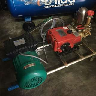 2HP Plunger Type Pump with Electric Motor