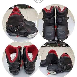 🚚 美國AUGI時尚車靴 AR2 Racing 皮車靴 皮革車靴 休閒短車靴  買就加送手套 潮牌流行  黑色