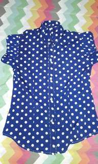 Polkadots blue shirt