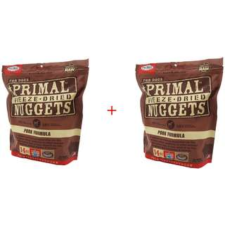 14OZ Primal Freeze-Dried Nuggets Canine Pork Formula - Dog Food (Buy 1 Get 1 Free)