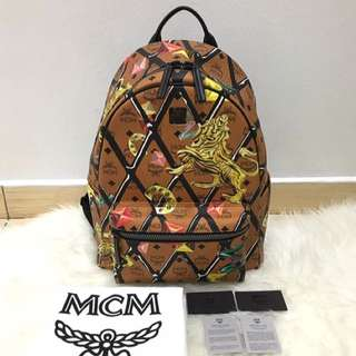 Authentic MCM Stark Motif Rombi Backpack