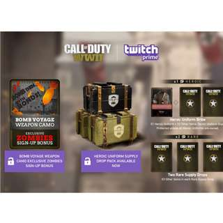 TWITCH PRIME COD WW2 ACCOUNTS