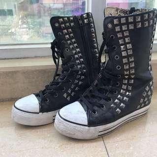 IIJIN sneakers 窩釘高筒boots
