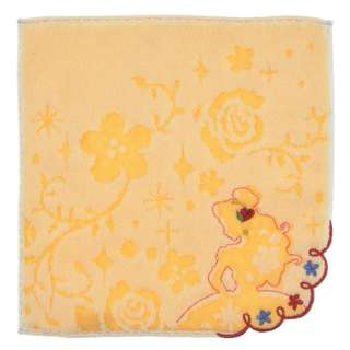 Japan Disneystore Disney Store Belle Silhouette Flower Mini Towel