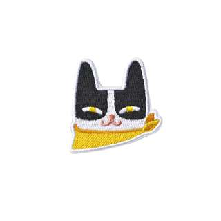 [Instock] Tuxedo Cat Embroidery Brooch By Mark The Universe