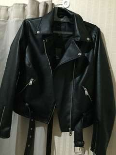 Faux leather jacket new look