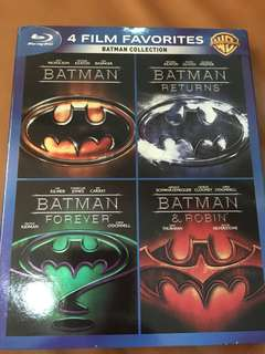 Batman collection, 4 film favorites, blu ray