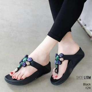Floral flipflop sandals