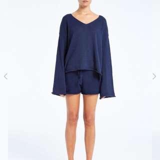 Lulu & Zephyr knit - navy size 6-12