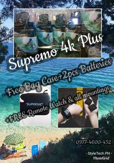 Supremo 4k plus package + FREE Bag Case (all legit brand new with 4 months warranty :)