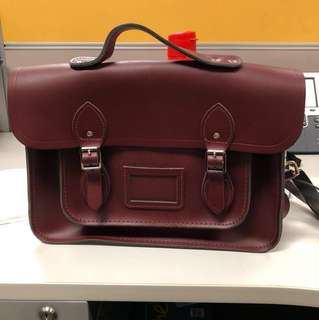 *NEW* The Cambridge  Satchel Company 13 Inch Classic Batchel Bag in Real Leather