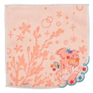 Japan Disneystore Disney Store Ariel the Little Mermaid Silhouette Flower Mini Towel