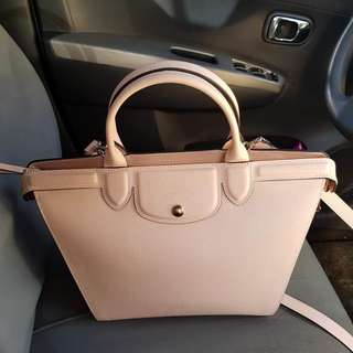 Authentic Longchamp Le Pliage Heritage (Beige)