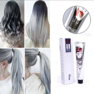 100ml Permanent Super Hair Dye ash Grey Cream. Does not come with Dioxygen Milk (H202) / Does not come with cream Developer