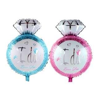 (Preorder) diamond ring 'I Do' Foil Balloon