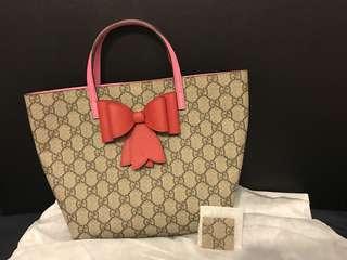 Gucci - GG Supreme bow tote 蝴蝶結手袋