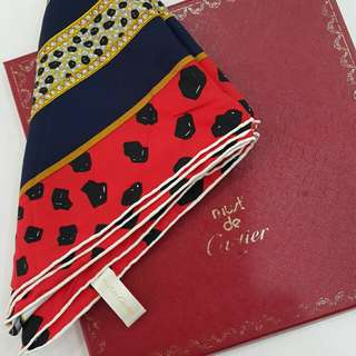 Cartier 100%silk scarf