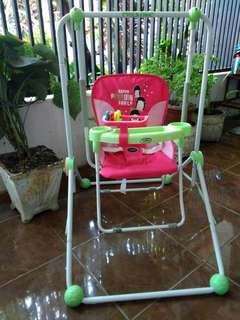Deluxe Baby Swing with Front Tray and Toys Set
