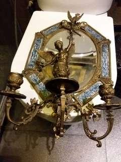 Ceramic n bronze mirror
