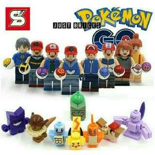 Pokemon Go Minifigures Set - Sheng Yuan SY620