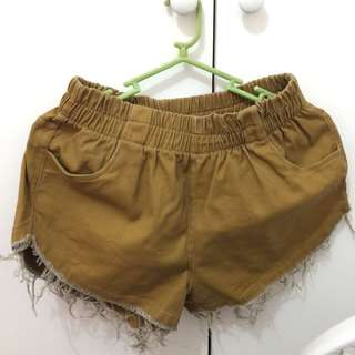 Highwaist maong type shorts/Gold